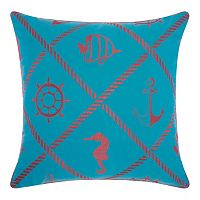 Mina Victory Nautical Diamonds Indoor / Outdoor Throw Pillow