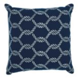 Mina Victory Woven Ropes Indoor / Outdoor Throw Pillow