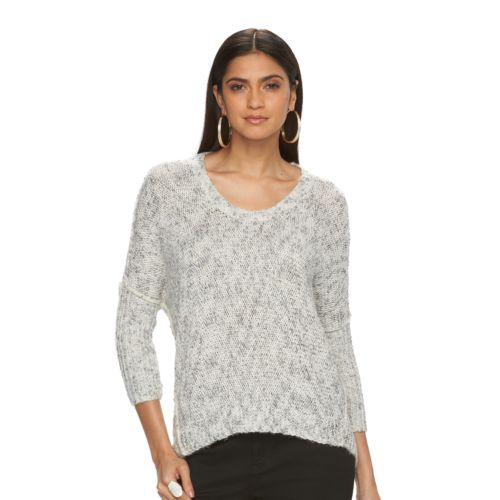 Petite Jennifer Lopez Boucle Cocoon Sweater