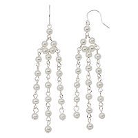 Croft & Barrow® Nickel Free Simulated Pearl Chandelier Earrings
