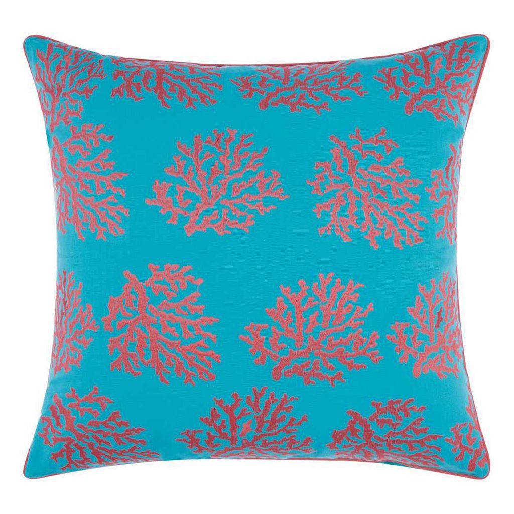 Mina Victory Corals Indoor / Outdoor Throw Pillow