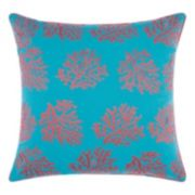 Mina Victory Corals Indoor / Outdoor Throw Pillow