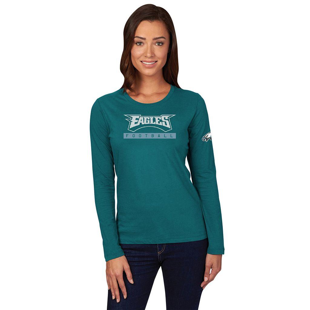 Women's Majestic Philadelphia Eagles Never Let It Rest Tee