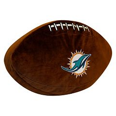 Miami Dolphins Football Pillow