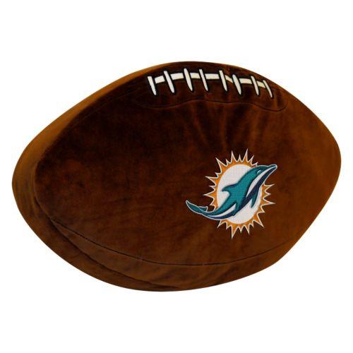 Miami Dolphins Football Pillow
