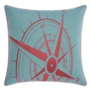 Mina Victory Compass Indoor / Outdoor Throw Pillow
