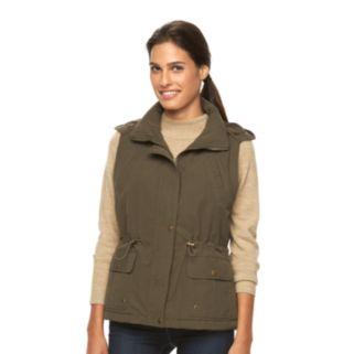 Women's KC Collections Microfiber Hooded Anorak Vest