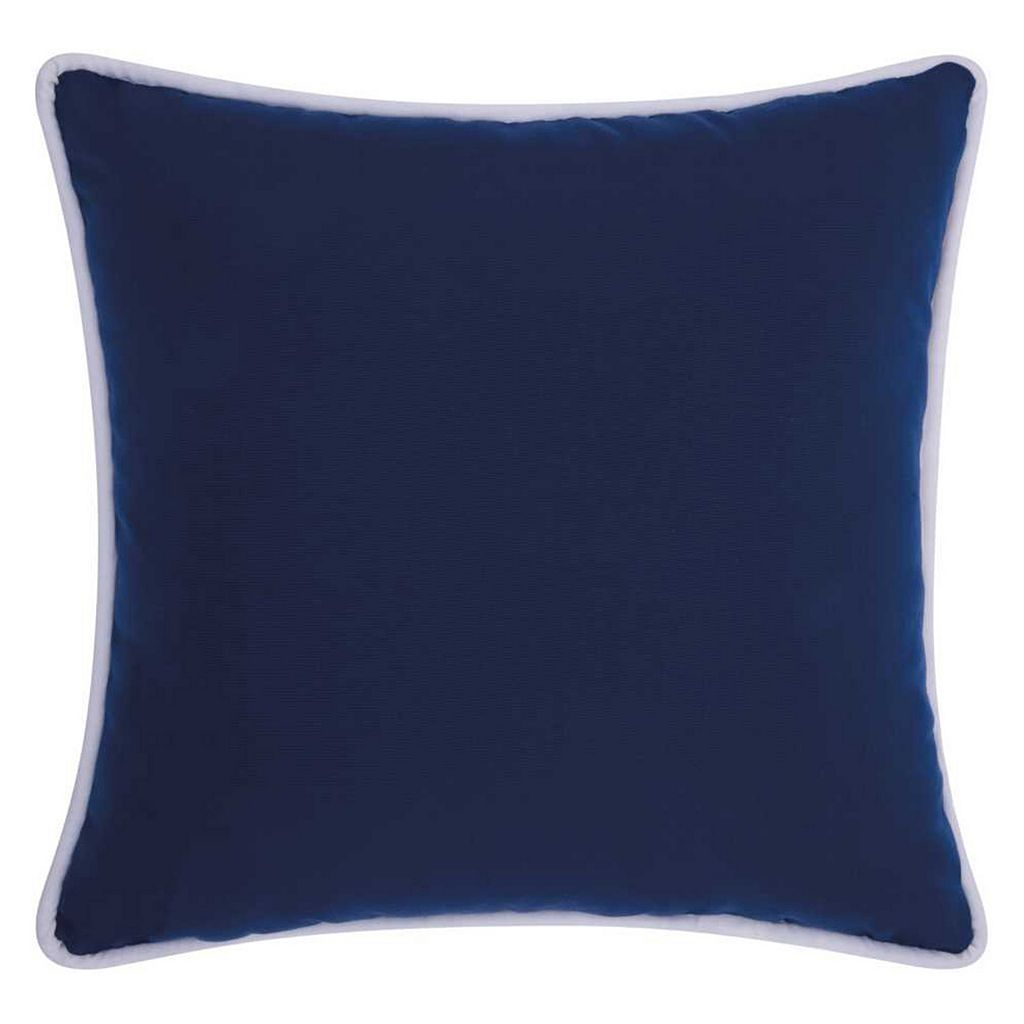 Mina Victory 2-colored Corded Solid Indoor / Outdoor Throw Pillow