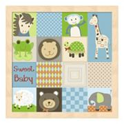 Metaverse Art Baby Animal Quilt Framed Wall Art