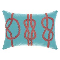 Mina Victory Three Knots Indoor / Outdoor Oblong Throw Pillow