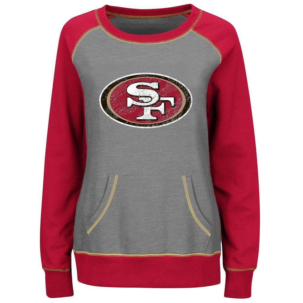 Women's Majestic San Francisco 49ers O.T. Queen Sweatshirt