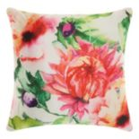 Mina Victory Watercolor Wildflower Indoor / Outdoor Throw Pillow
