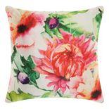 Mina Victory Watercolor Wildflower Indoor / Outdoor Throw Pillow