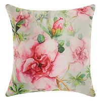 Mina Victory Watercolor Roses Indoor / Outdoor Throw Pillow