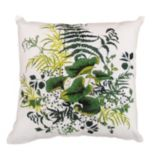 Kathy Ireland Green Lily Pads Indoor / Outdoor Throw Pillow