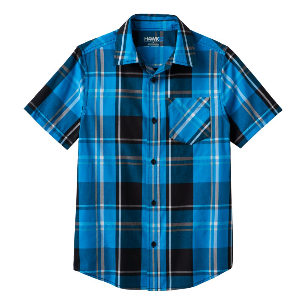 8-20 Tony Hawk® Plaid Button-Down Shirt