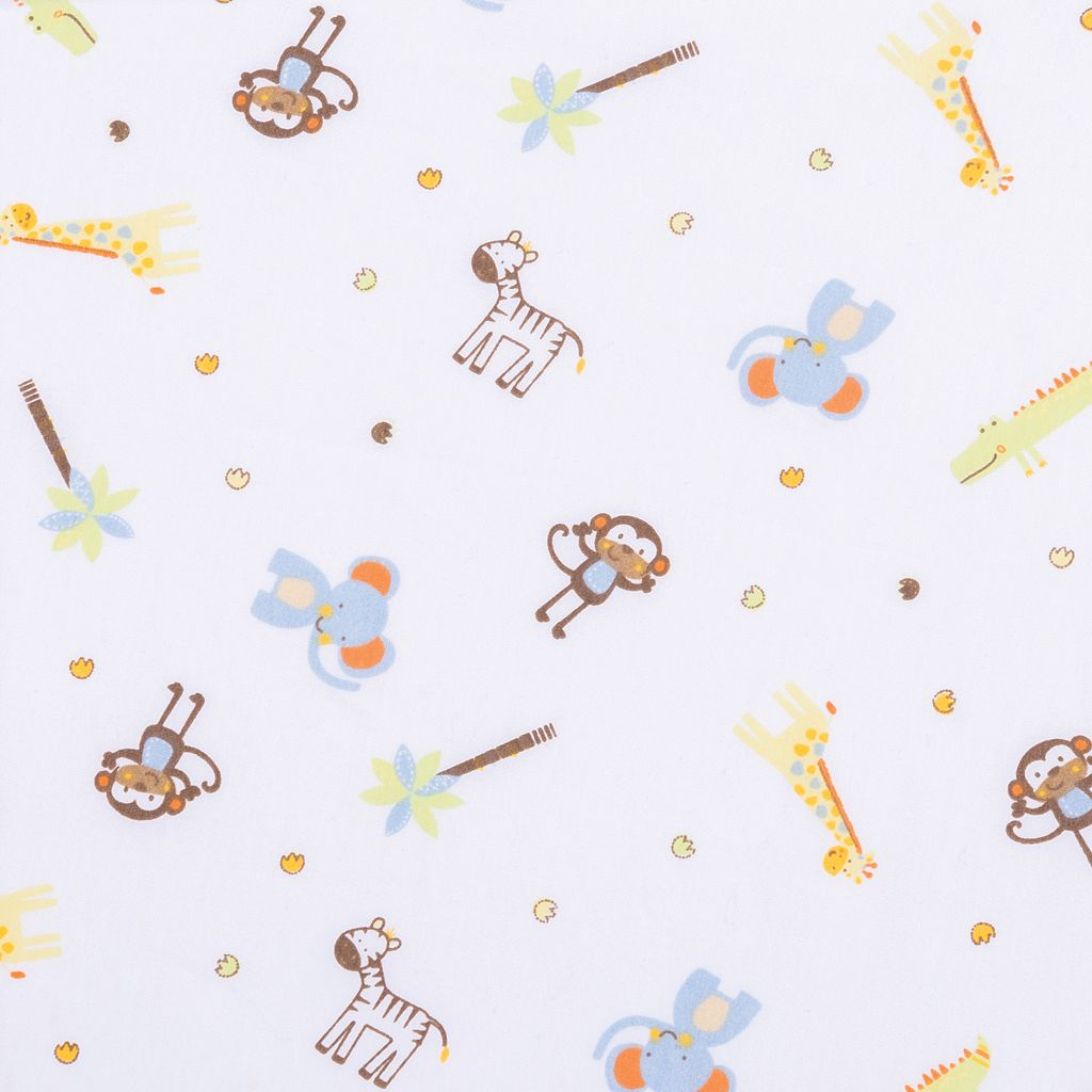 Trend Lab Jungle Fun Animal Fitted Crib Sheet
