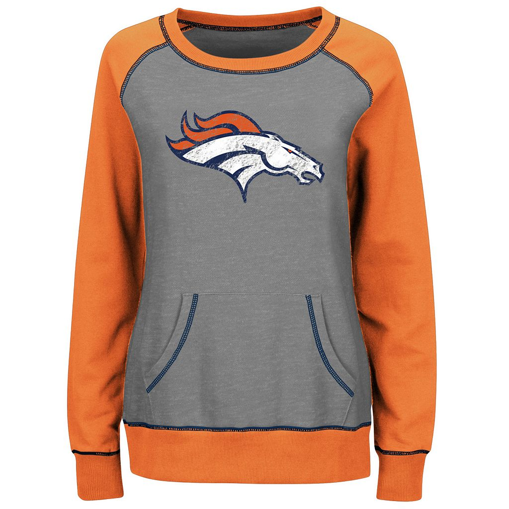 Women's Majestic Denver Broncos O.T. Queen Sweatshirt