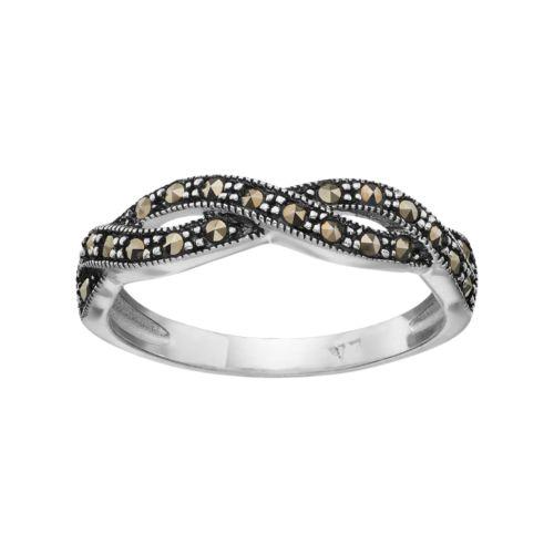 Silver LuxuriesMarcasite Twist Ring