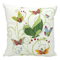 Kathy Ireland Fantasy Butterflies Indoor / Outdoor Throw Pillow