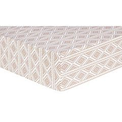 Trend Lab Deer Lodge Tribal Print Fitted Crib Sheet