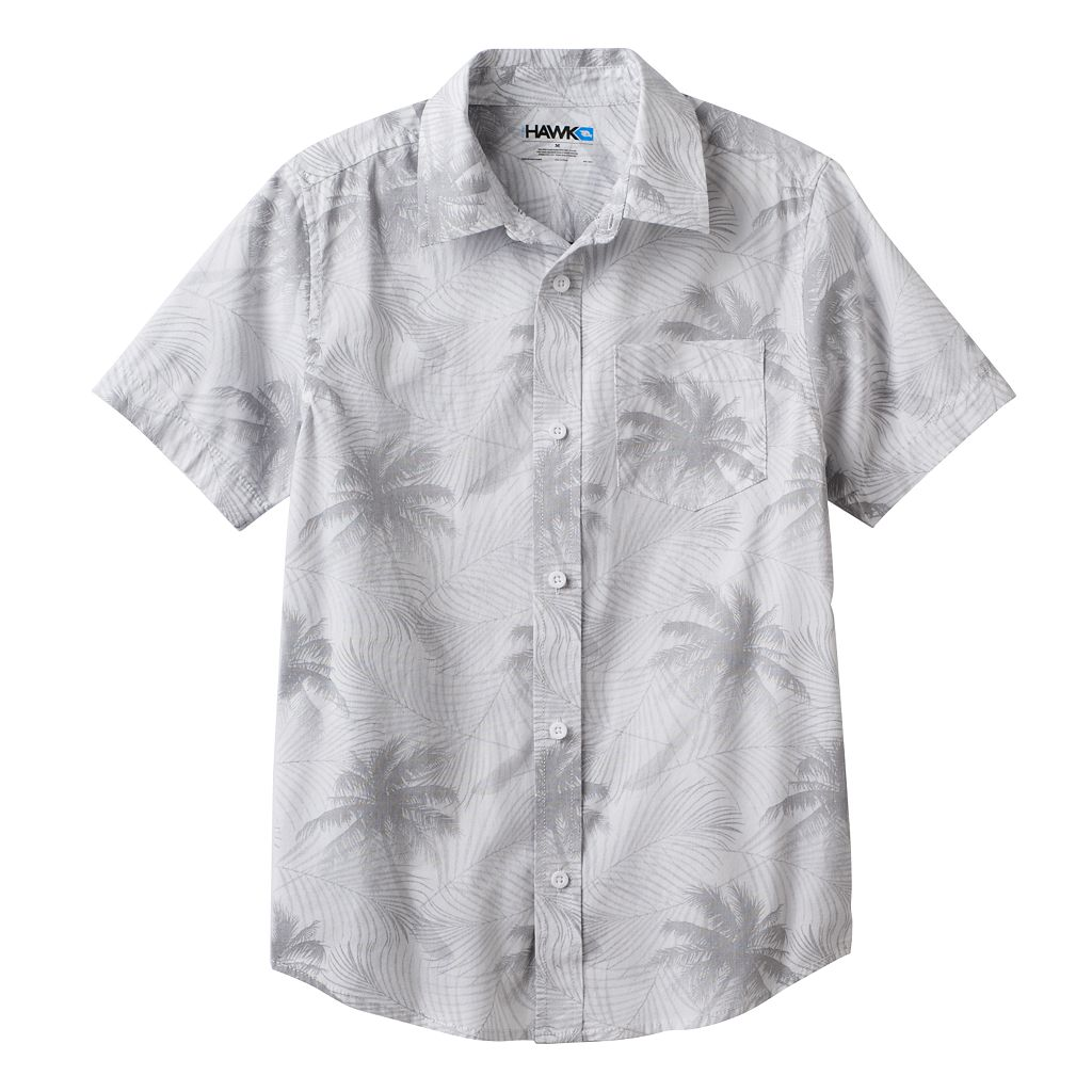 Boys 8-20 Tony Hawk® Tropical Print Button-Down Shirt