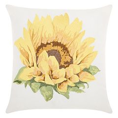 Kathy Ireland Sunflower Indoor / Outdoor Throw Pillow