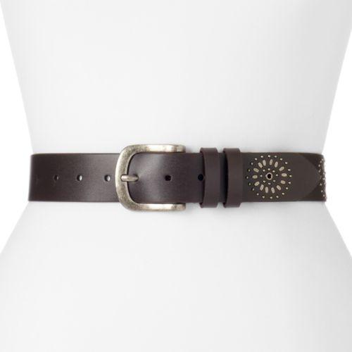 Women's Lee Floral Studded Belt