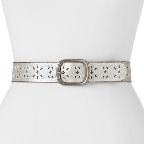 Women's Lee Floral Cutout Leather Belt