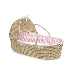 Badger Basket Hooded Chevron Moses Basket