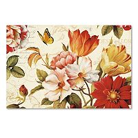 Trademark Fine Art Poesie Florale III Canvas Wall Art