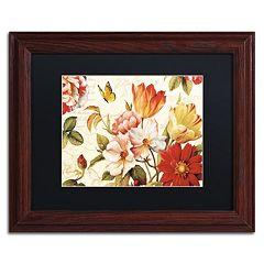 Trademark Fine Art Poesie Florale III Framed Wall Art