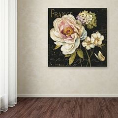 Trademark Fine Art Marche de Fleurs on Black Canvas Wall Art