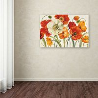 Trademark Fine Art Poppies Melody I Canvas Wall Art