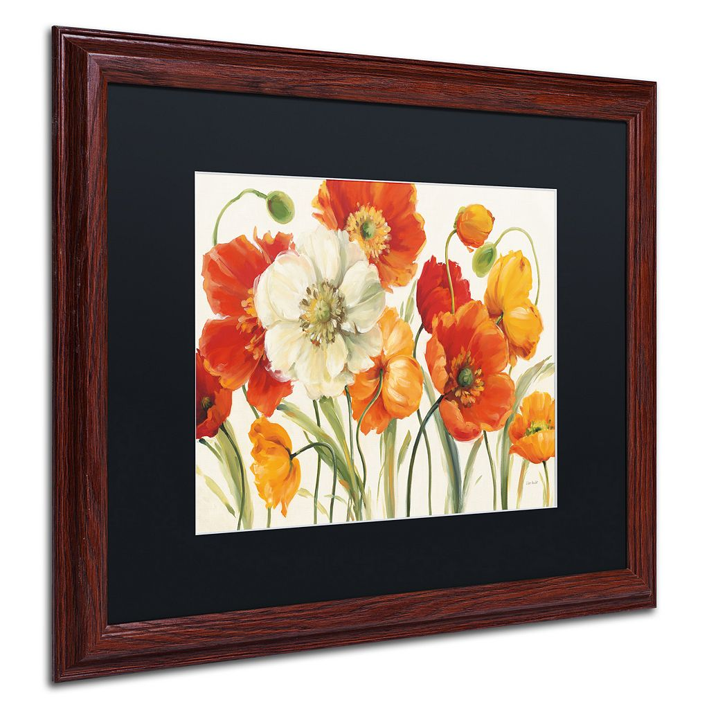 Trademark Fine Art Poppies Melody I Framed Wall Art
