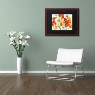 Trademark Fine Art Poppies Melody I Framed Wall Art