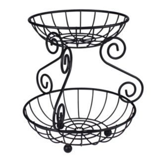 Spectrum Scroll 2-Tier Basket