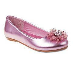 Laura Ashley Girls' Ribbon Ballet Flats