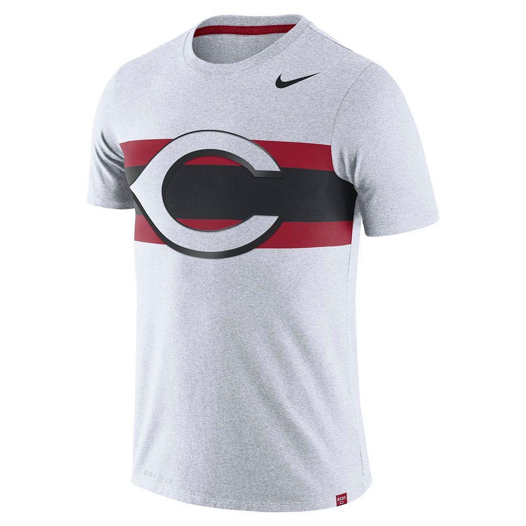 Men's Nike Cincinnati Reds Tri-Blend Dri-FIT Tee