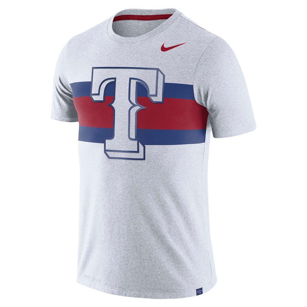 Men's Nike Texas Rangers Tri-Blend Dri-FIT Tee