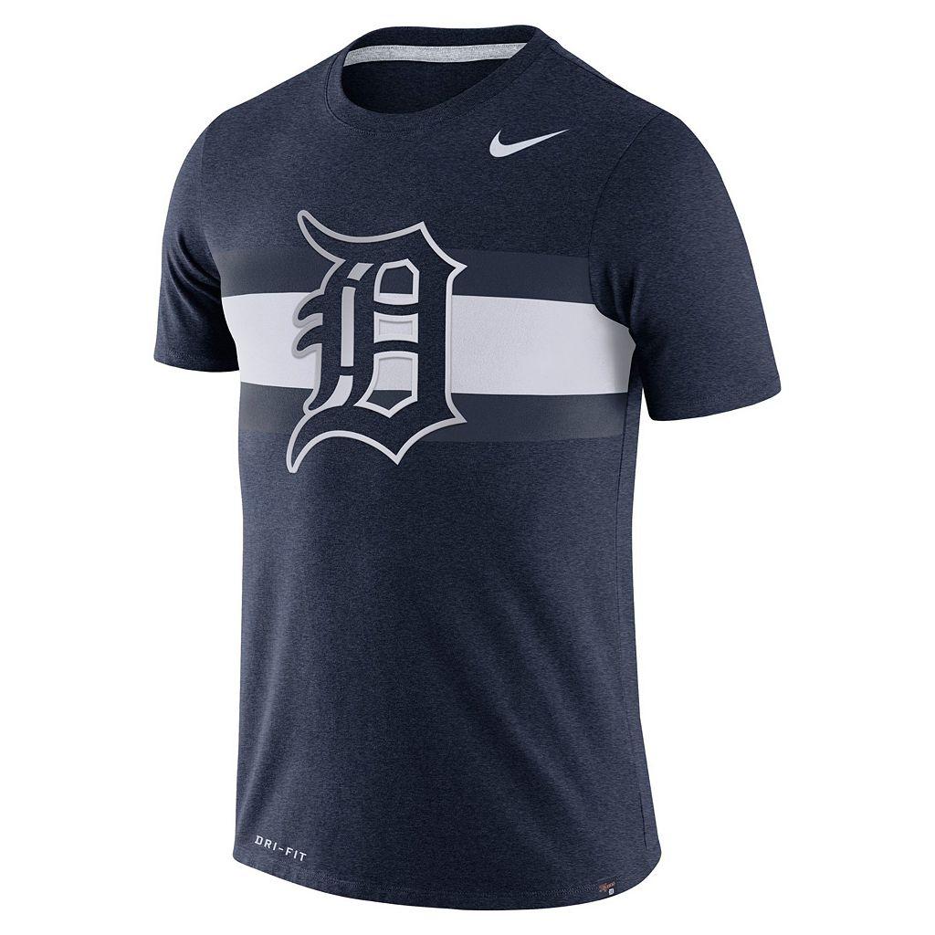 Men's Nike Detroit Tigers Tri-Blend Dri-FIT Tee