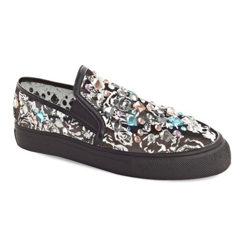 Henry Ferrera Lifestyle Women's Jeweled Slip-On Shoes