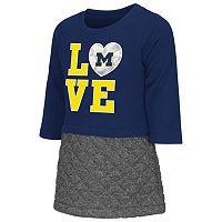 Toddler Campus Heritage Michigan Wolverines Glitter Dress