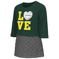 Toddler Campus Heritage Oregon Ducks Glitter Dress