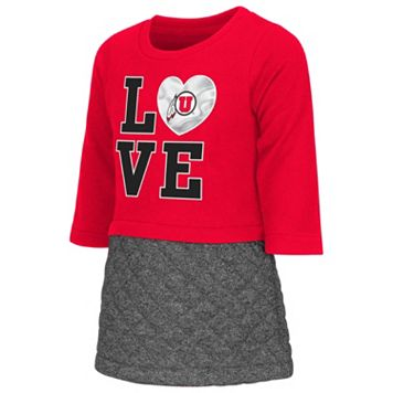 Toddler Campus Heritage Utah Utes Glitter Dress