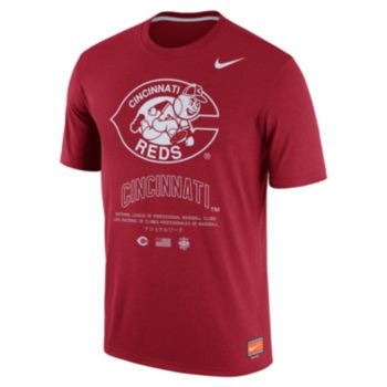 Men's Nike Cincinnati Reds Cooperstown Legend Gym Issue Tee