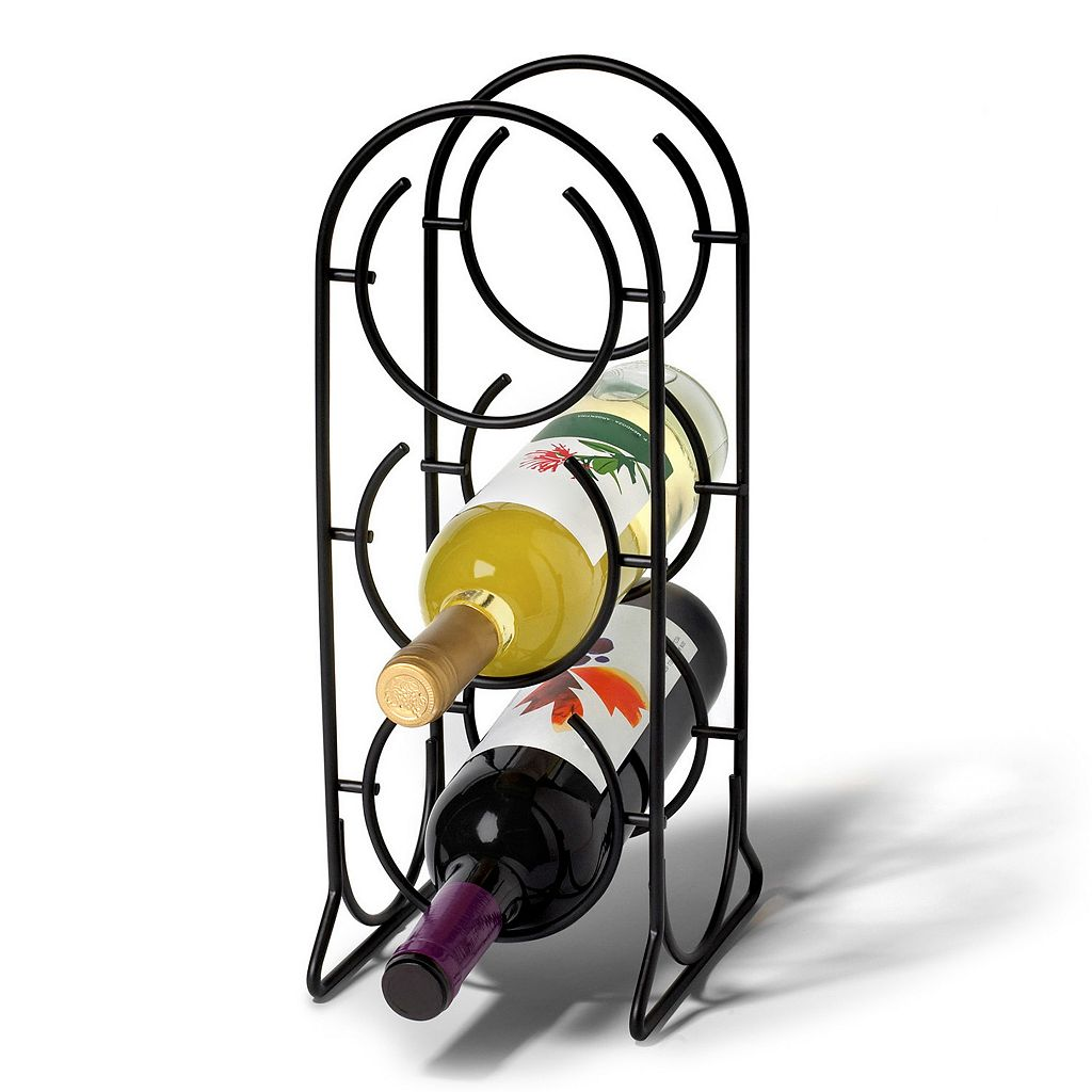 Spectrum Horseshoe 3-Bottle Wine Rack