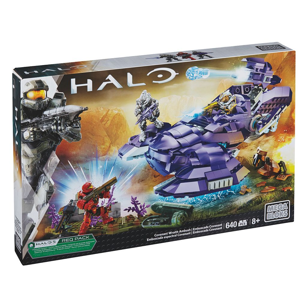 Mega Bloks Halo Covenant Wraith Ambush Set