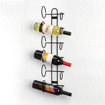 Spectrum 6-Bottle Wall Mount Wine Rack