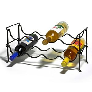 Spectrum Ashley 4-Bottle Wine Rack